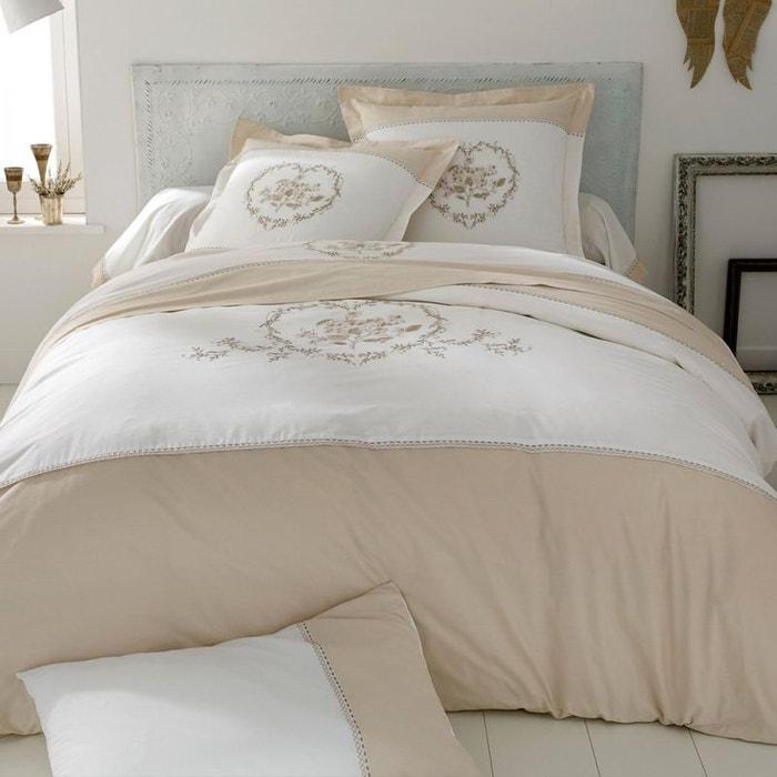 housse de couette cupid v000526 percale coton beige tradition des vosges la redoute. Black Bedroom Furniture Sets. Home Design Ideas
