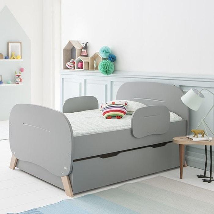 pack lit vo maelys matelas tiroir gris koala gris. Black Bedroom Furniture Sets. Home Design Ideas