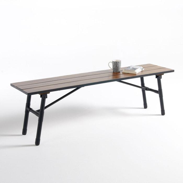 banc de jardin acacia pied m tal pliant sohan acacia la. Black Bedroom Furniture Sets. Home Design Ideas