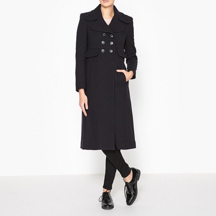 Пальто удлинённое с кожаными завязками