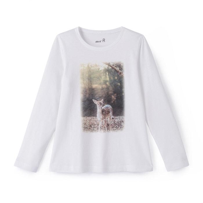 T-shirt Hert 3-12 jaar  La Redoute Collections image 0