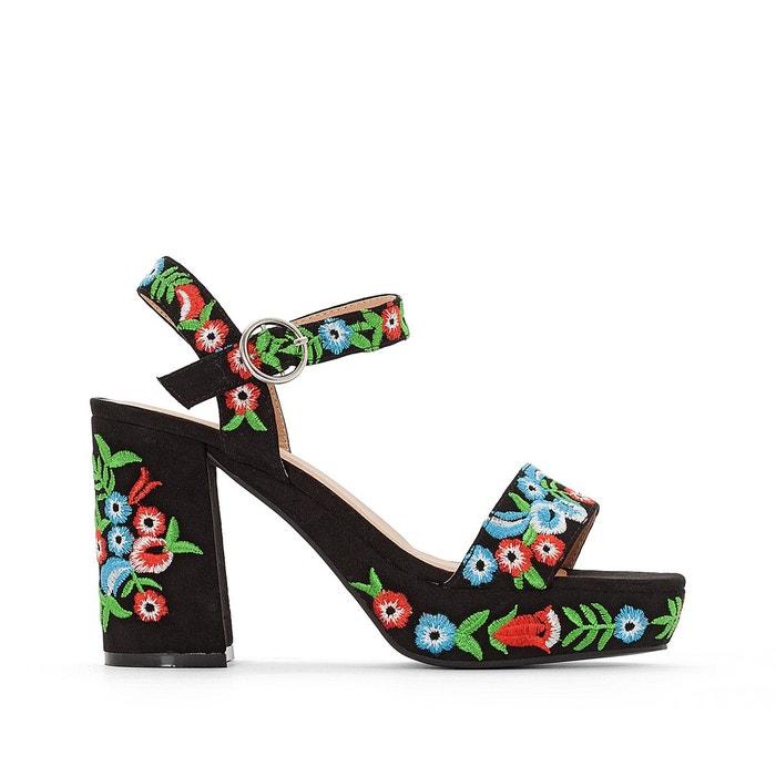 Sandales brodées   noir Mademoiselle R   La Redoute