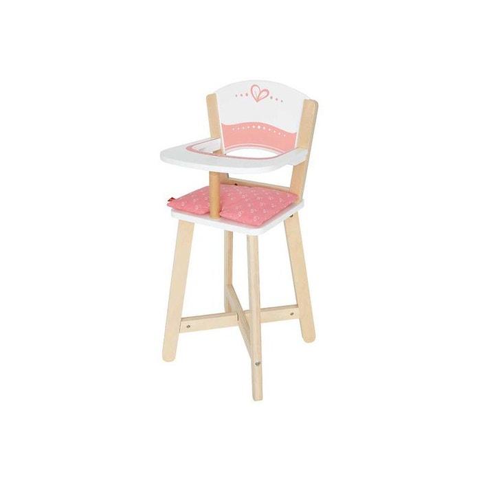 chaise haute bois jouet hape couleur unique hape la redoute. Black Bedroom Furniture Sets. Home Design Ideas