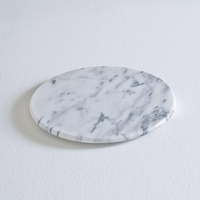 plateau rond en marbre marbre blanc la redoute interieurs la redoute. Black Bedroom Furniture Sets. Home Design Ideas