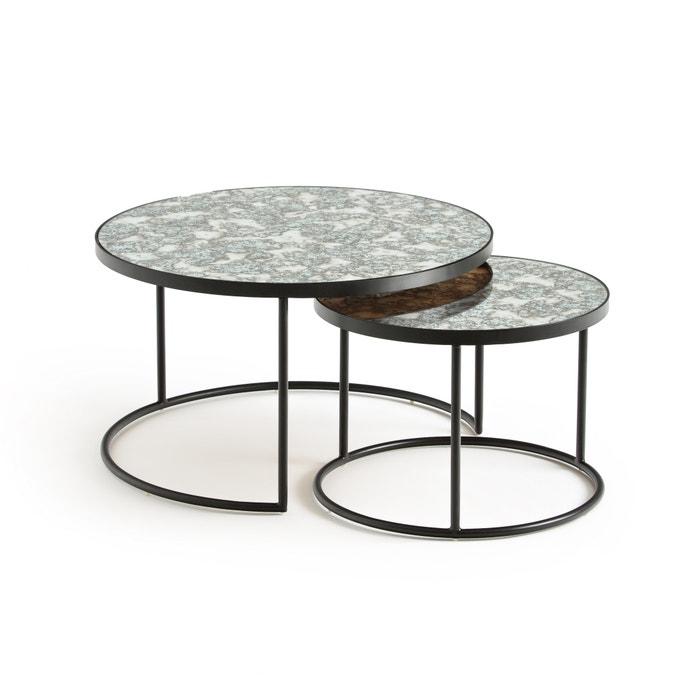 table basse semi gigogne lipstick lot de 2 la redoute. Black Bedroom Furniture Sets. Home Design Ideas