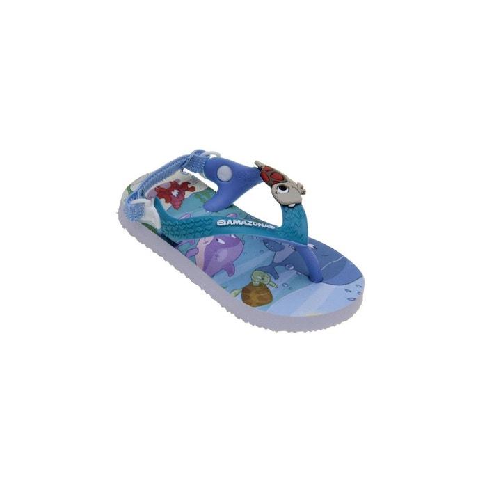 Sandales bébé garçon Amazonas Enjoy Glub Glub Multicolore Bleu YsNd4