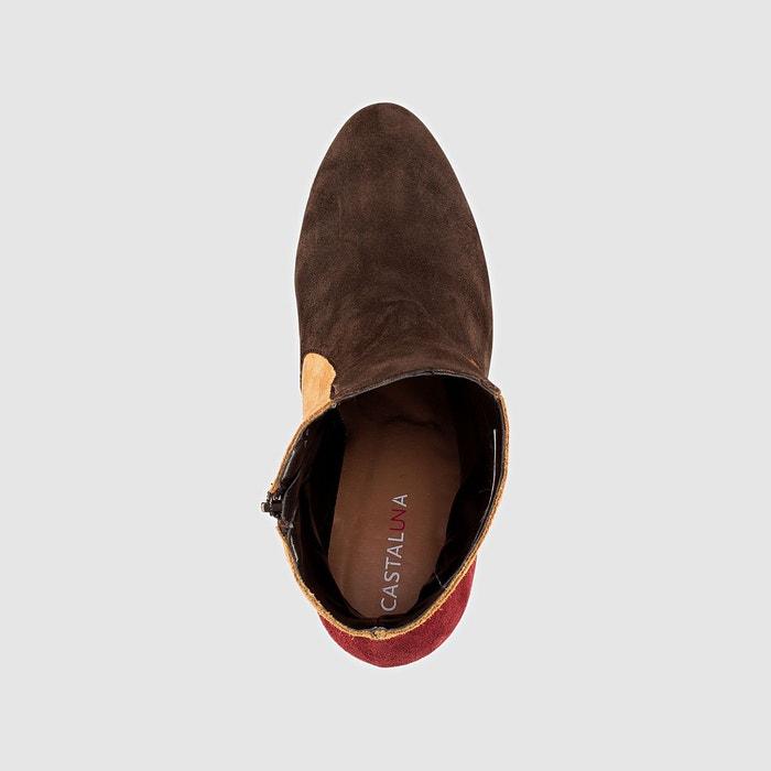Boots à talon multicolore Castaluna