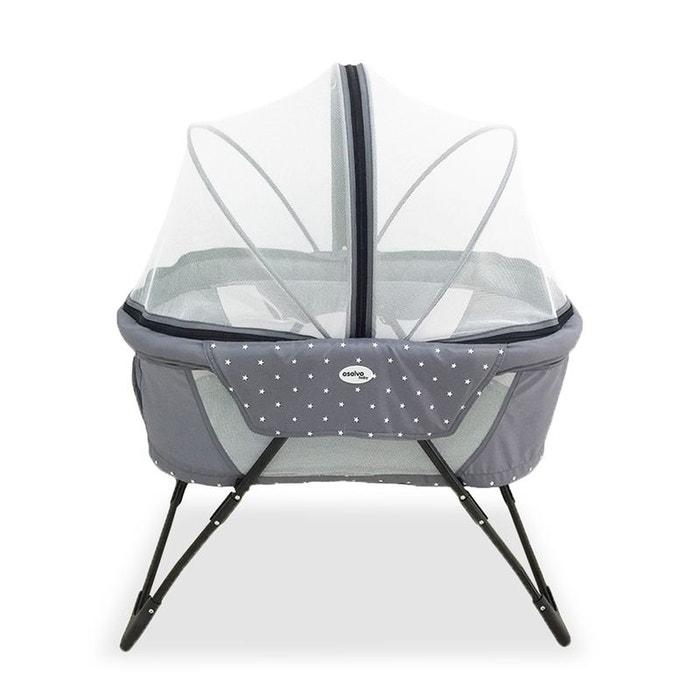 berceau de voyage baby fox collection 39 crib 39 gris baby fox la redoute. Black Bedroom Furniture Sets. Home Design Ideas