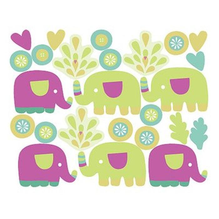 Stickers Chambre Bebe Les Petits Elephants 294306 8 Wallies La Redoute