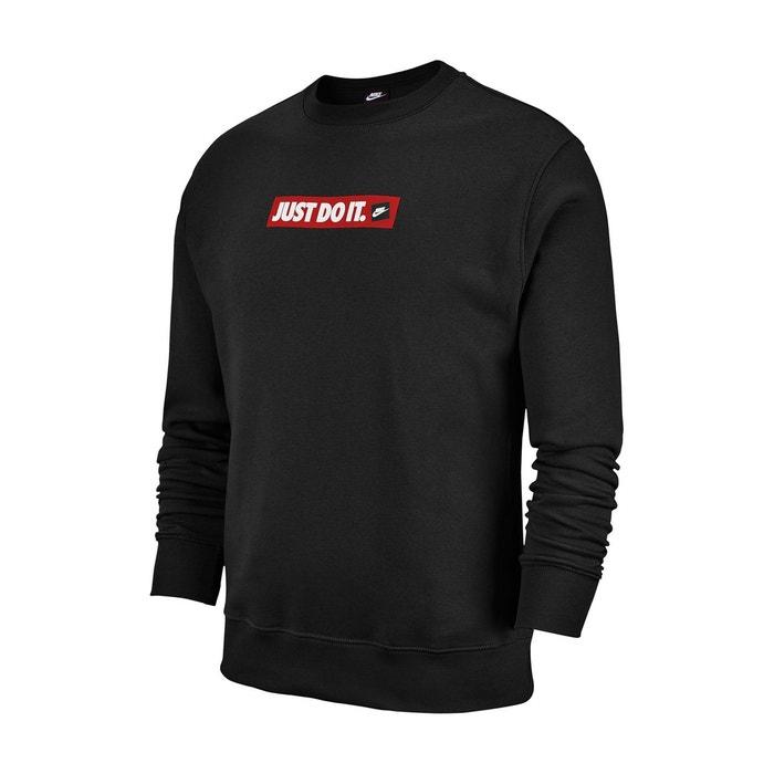 Sweat col rond just do it noir Nike | La