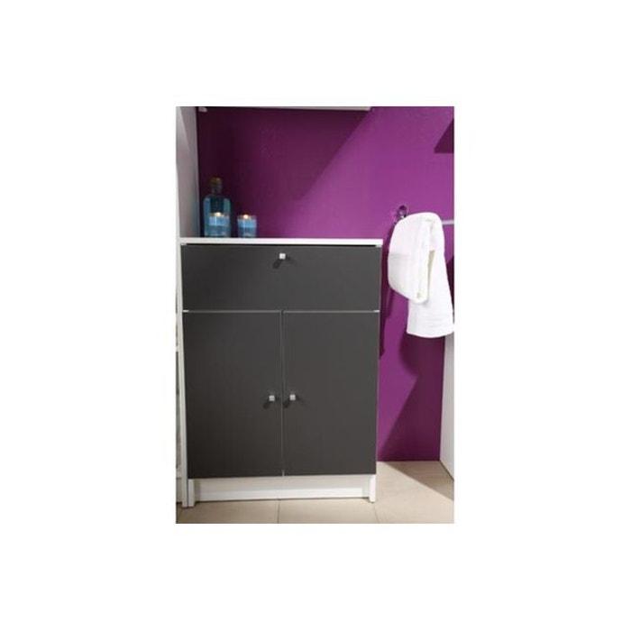 Petite armoire de salle de bain en imitation bois for Petite armoire de salle de bain