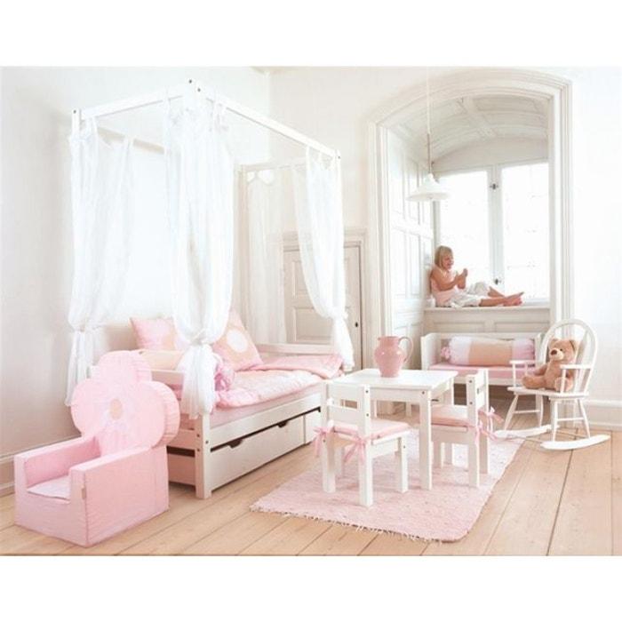 lit baldaquin volutif basic blanc nordic factory la redoute. Black Bedroom Furniture Sets. Home Design Ideas