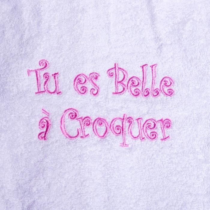 cfd4558a6c530 Peignoir bébé brodé belle à croquer Home Cassiopee | La Redoute
