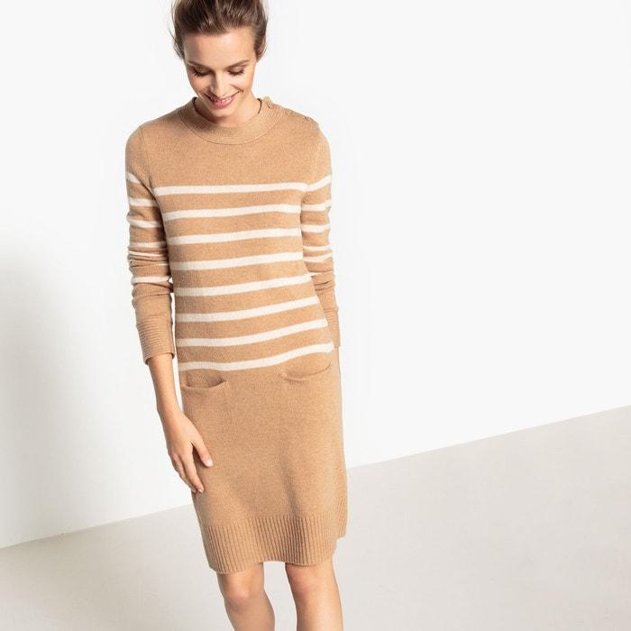 Robe droite, tricot, marinière La Redoute Collections