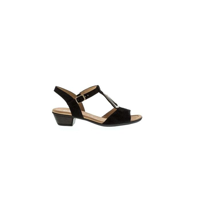 53441be69de2 Chaussures nu-pieds marron noir Gabor