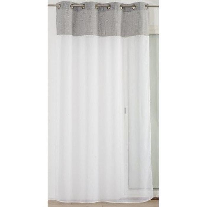voilage en etamine parement haut romantique blanc home maison la redoute. Black Bedroom Furniture Sets. Home Design Ideas