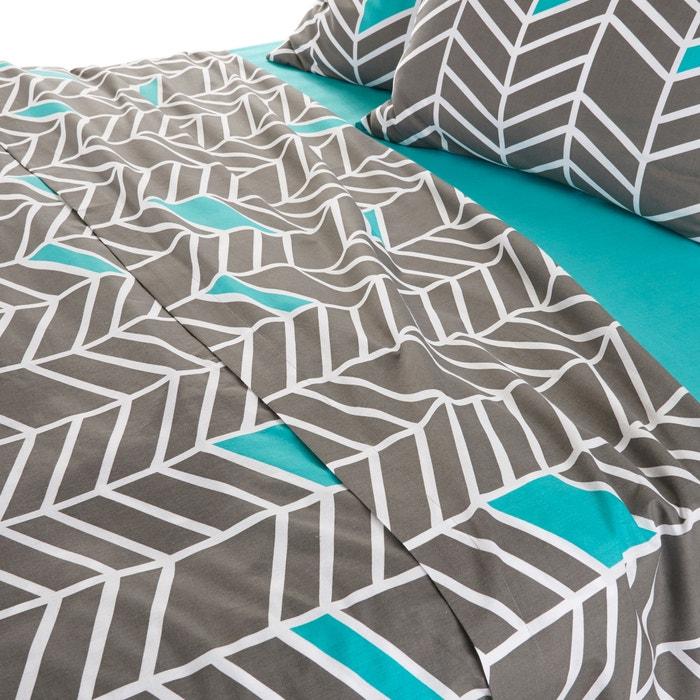 drap plat imprim pur coton tobison la redoute interieurs la redoute. Black Bedroom Furniture Sets. Home Design Ideas