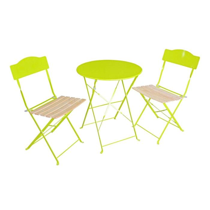 Salon de jardin helena 2 place granny vert anis for La redoute salon jardin