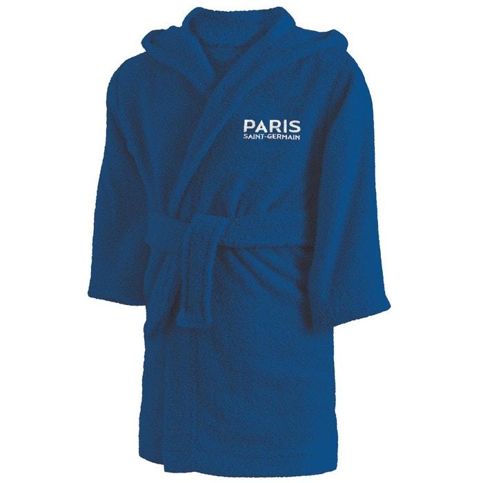 4aff06a8695e5 Peignoir psg magique 100% coton bouclette bleu Psg | La Redoute