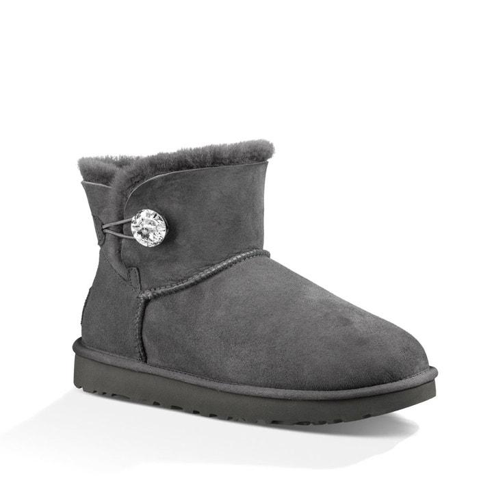 Acheter Pas Cher Visite Nouvelle En Ligne Pas Cher Officiel Boots croûte de cuir vachette gris Ugg Meilleure Vente De Sortie iukEifaOCu