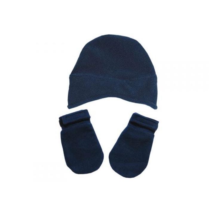d0407af26cd Bonnet et moufles bleu