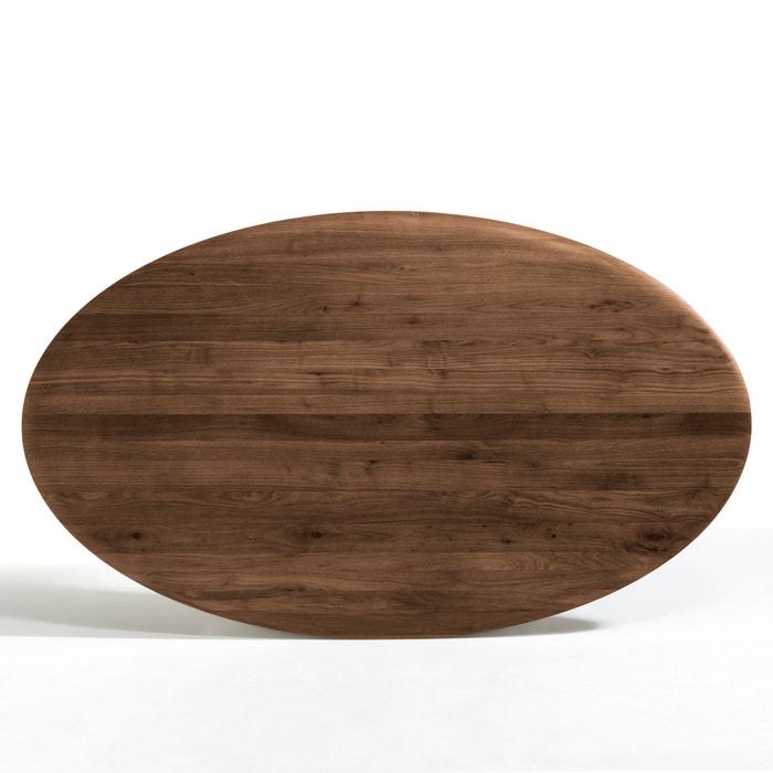 Genial Hisia Ellipse Shape Solid Walnut Table Top AM.