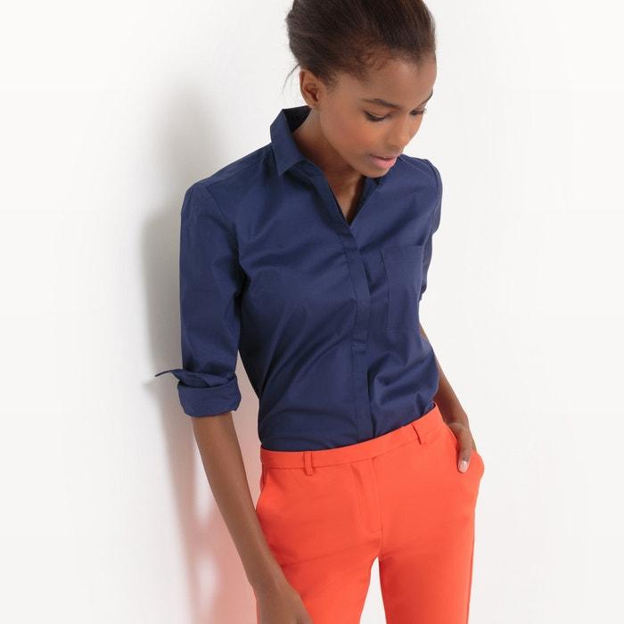 Camicia dritta in cotone, taschino  La Redoute Collections image 0
