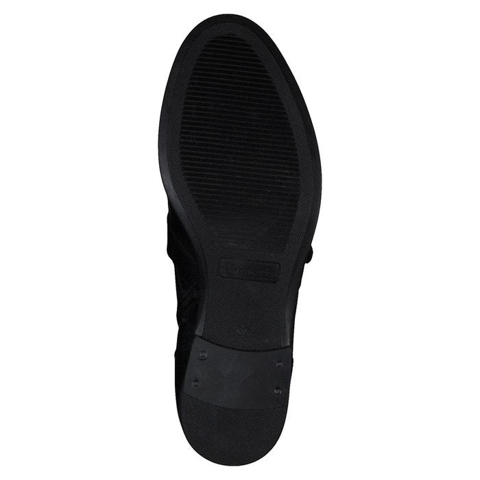 2da5afd70d0 Botines de piel con hebillas jessy negro Tamaris