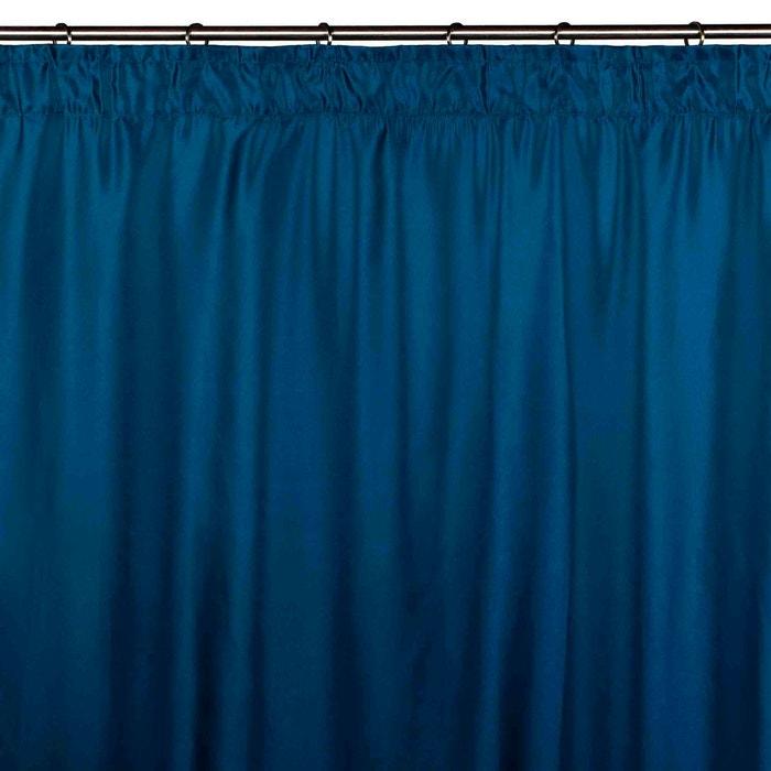 rideau ruban fronceur polyester feeling bleu turquoise bleu turquoise madura la redoute. Black Bedroom Furniture Sets. Home Design Ideas