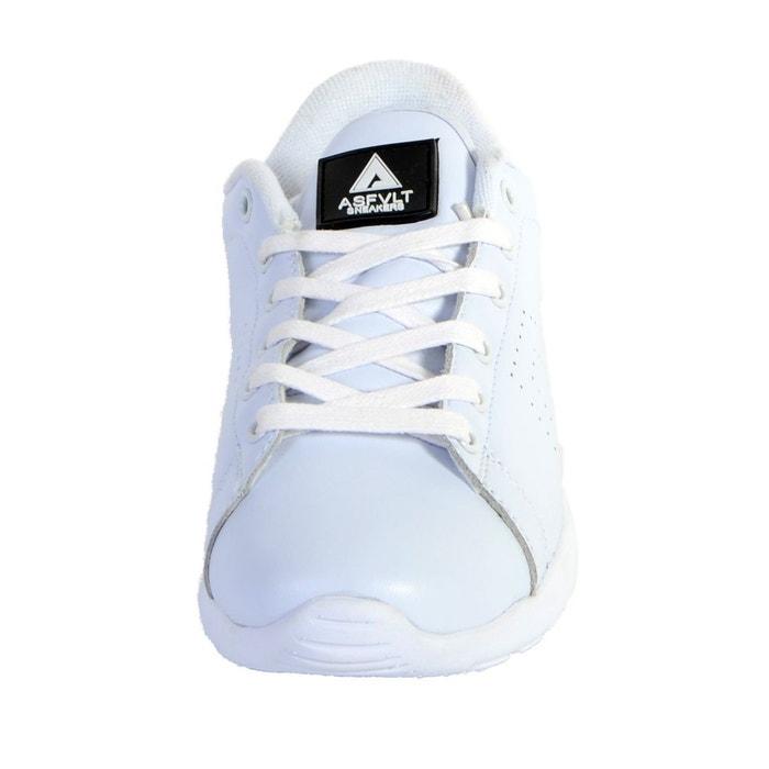 Basket super tennis blanc / noir blanc Asfvlt