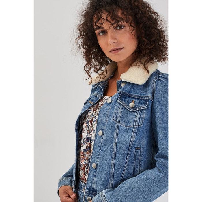 Veste droite boutonnée en jean jean stone femme | Morgan