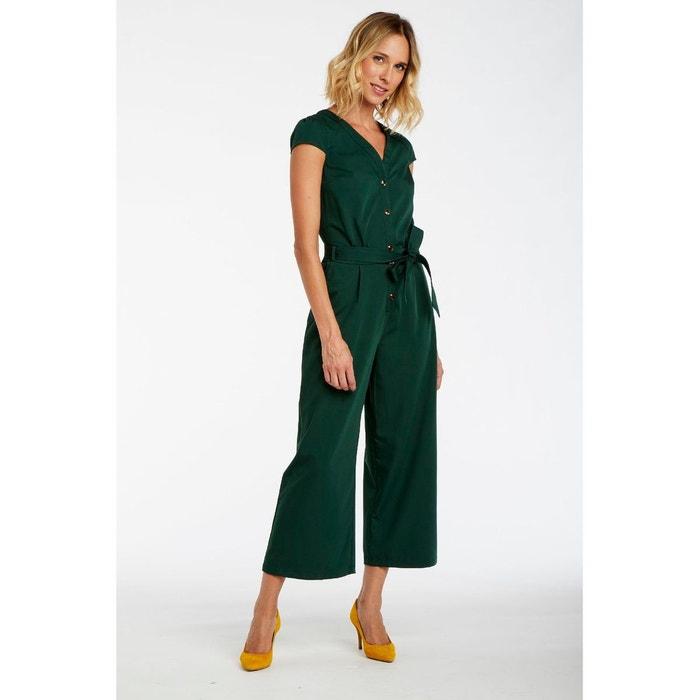 design intemporel c2775 f6060 Combinaison pantalon ceinturée détail boutons