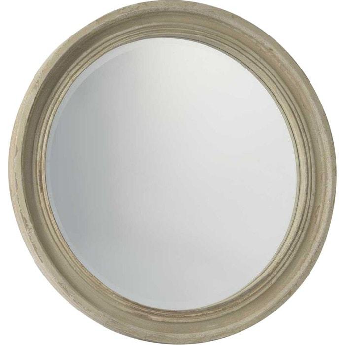 Miroir bois marron amadeus la redoute for Miroir 180x90