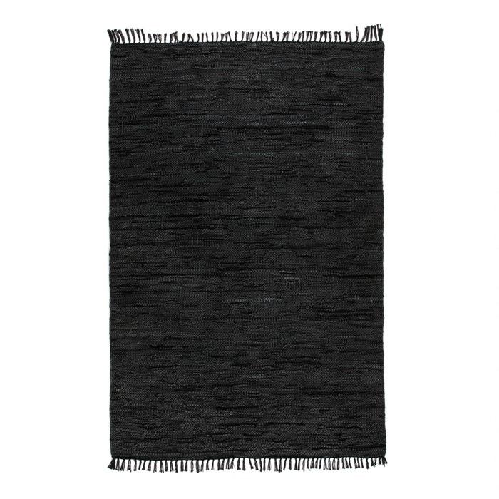 Tapis cuir lekar noir la redoute interieurs la redoute - La redoute tapis salon ...