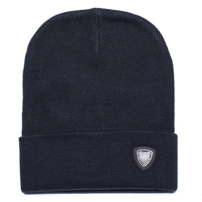 e2cdd46c412 Bonnet en acrylique noir Emporio Armani Ea7