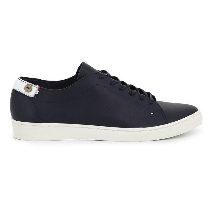 Sneakers aspen low en cuir marine  bleu marine Faguo  La Redoute