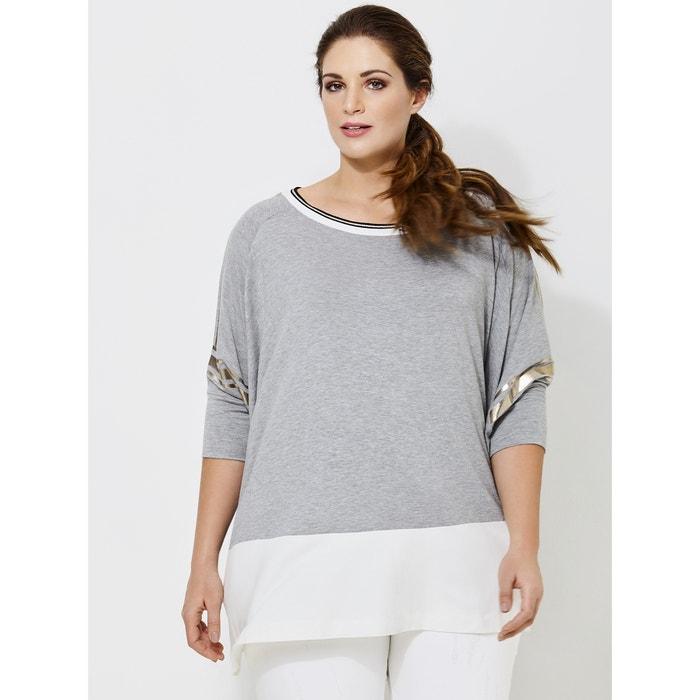 Loose Fit T-Shirt with Metallic Detailing  MAT FASHION image 0