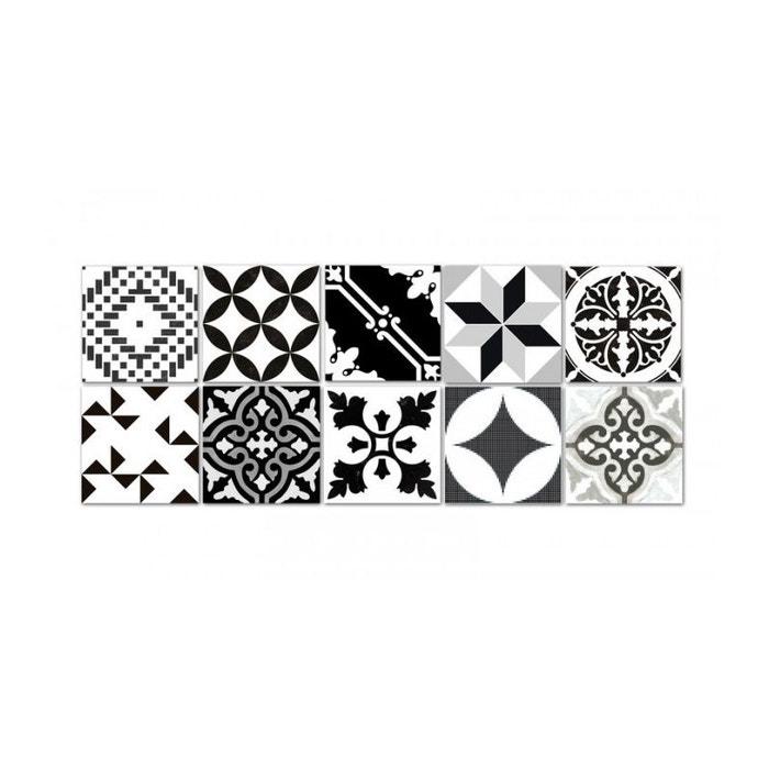 Stickers Pour Carrelage Salle De Bain Ou Cuisine Bento Noir/Blanc