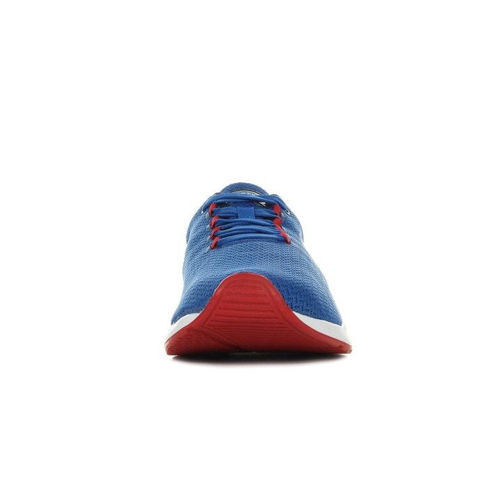 Baskets homme techracer engineered mesh bleu, blanc, rouge Le Coq Sportif