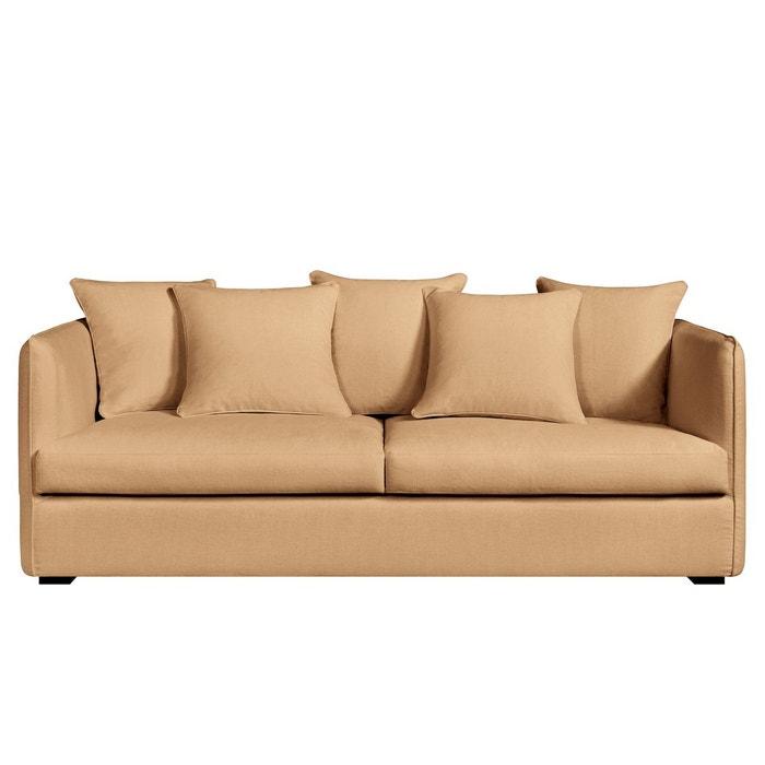 canap convertible neo chiquito coton lin camel am pm la redoute. Black Bedroom Furniture Sets. Home Design Ideas