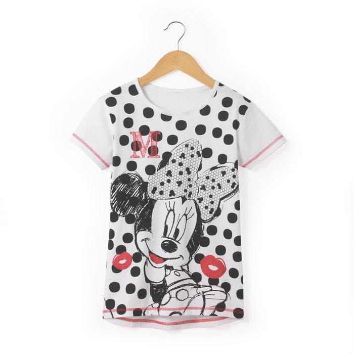 Polka Dot Print T-Shirt, 8-16 Years  MINNIE MOUSE image 0