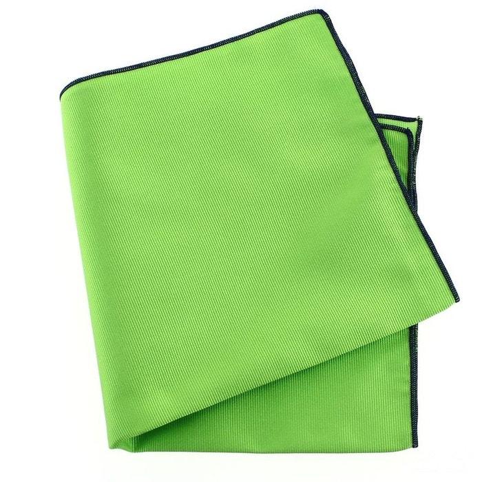 Pochette soie, vert cedro, ourlet bleu royal vert Tony Et Paul   La Redoute
