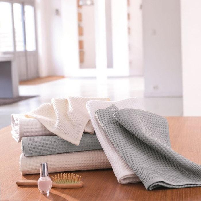 serviette de toilette nid abeille ecru tradition des vosges la redoute. Black Bedroom Furniture Sets. Home Design Ideas