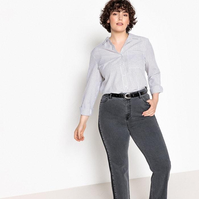 Striped Cotton Shirt by Castaluna Plus Size