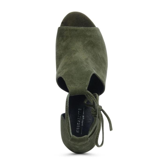 Sandales ajourées à talon noir Sacha