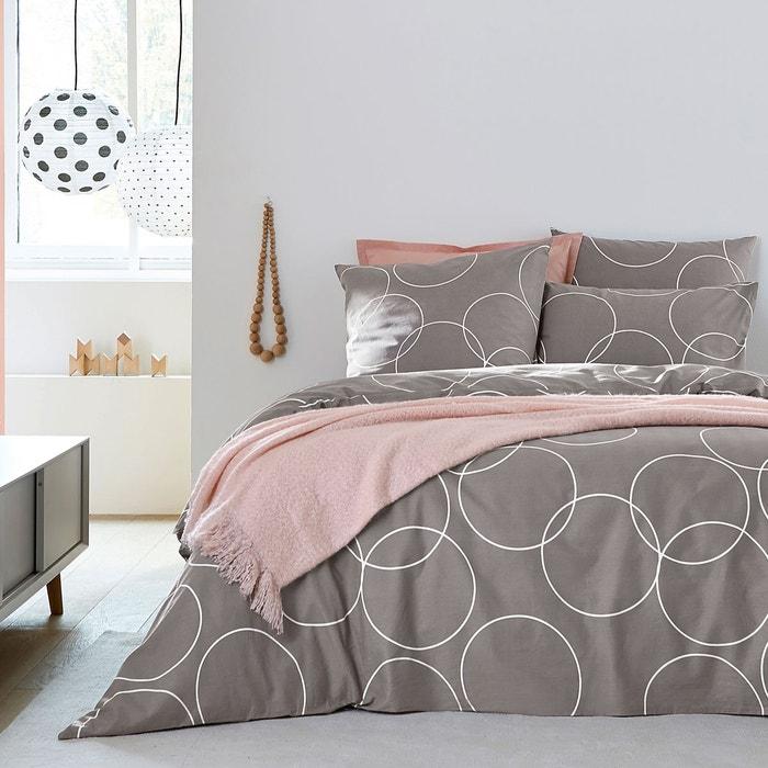housse de couette imprim e circle gris blanc la redoute. Black Bedroom Furniture Sets. Home Design Ideas