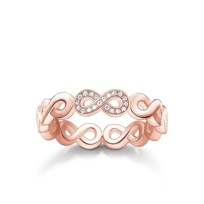 THOMAS SABO Bague Argent sterling 925   plaqué or rose 18 carats  D TR0003-923- a452092b71dc