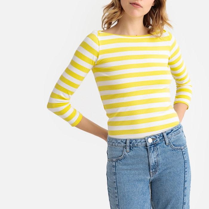 72cc571f721508 Striped breton stretch cotton t-shirt La Redoute Collections | La Redoute