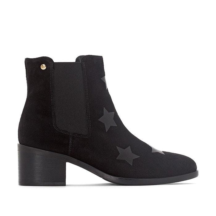 Boots cuir zoe   noir Tommy Hilfiger   La Redoute