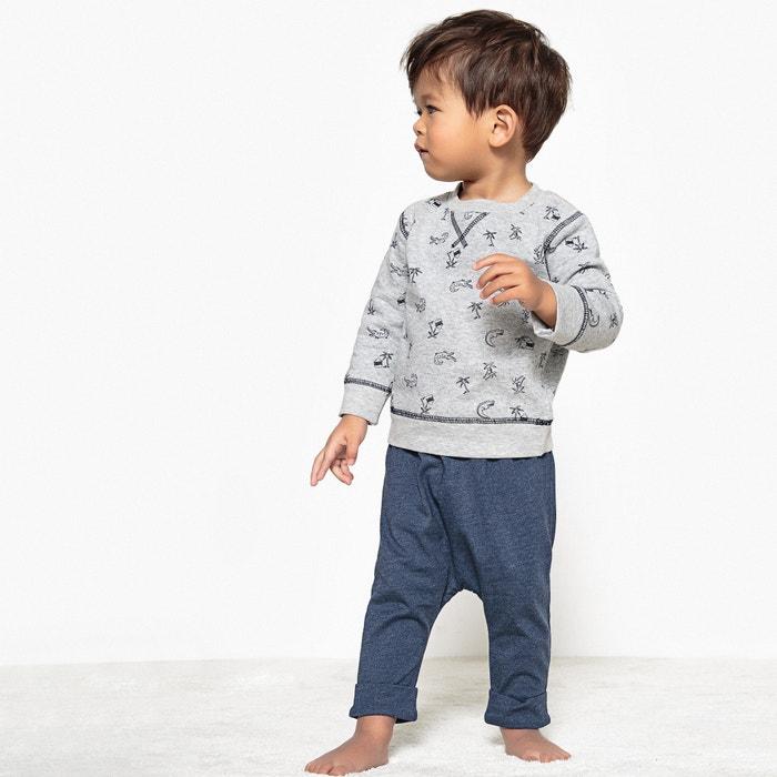 Confezione da 2 pantaloni alla turca fantasia, da 0 mesi a 2 anni  La Redoute Collections image 0